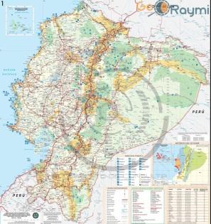 Mapa Vial Turístico Del Ecuador