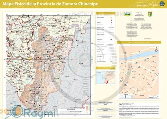 Mapa De Zamora Provincia.Mapas De Zamora Chinchipe