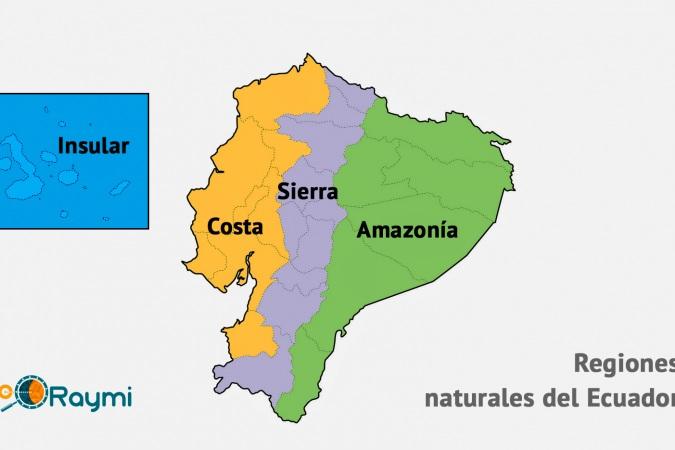 Ecuador Mapa Del Mundo.Mapa Del Ecuador Y Sus Regiones Naturales